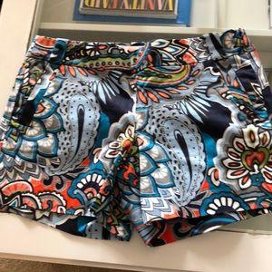 J Crew side zip shorts. NWOT